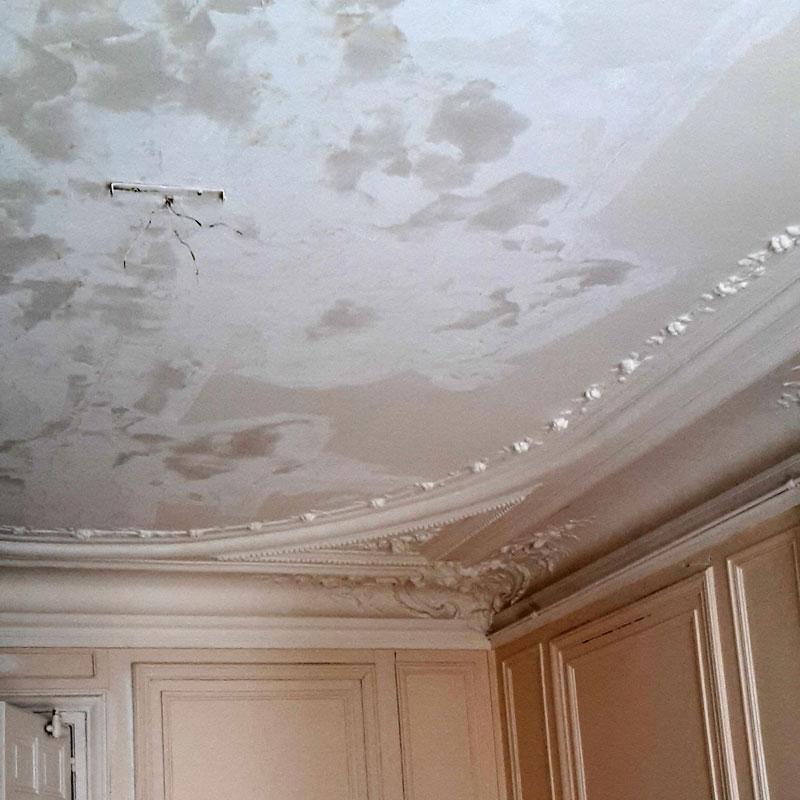 Tpr peinture serge tordjman artisan peintre paris - Refaire plafond apres degats des eaux ...
