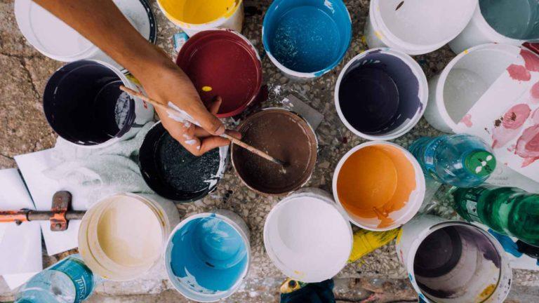 artisan peintre choix des couleurs